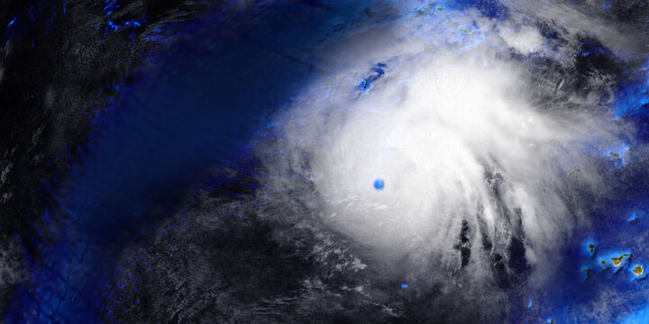 Hurricane from Space. Elements of this high resolution 3d illustration are furnished by NASA.