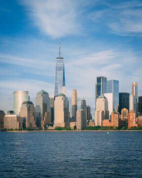 View of the Manhattan skyline from Liberty State Park, New Jersey