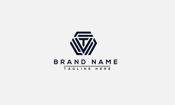 VT Logo Design Template Vector Graphic Branding Element.