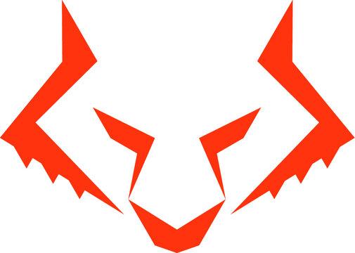 Ilustracion vectorial lobo
