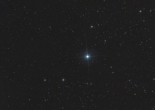 Closeup of the triple star system called β Cephei or also Alfirk in Cepheus constellation, taken with my telescope.