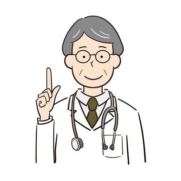 説明する男性医師