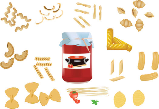 Italian pasta tomato jar