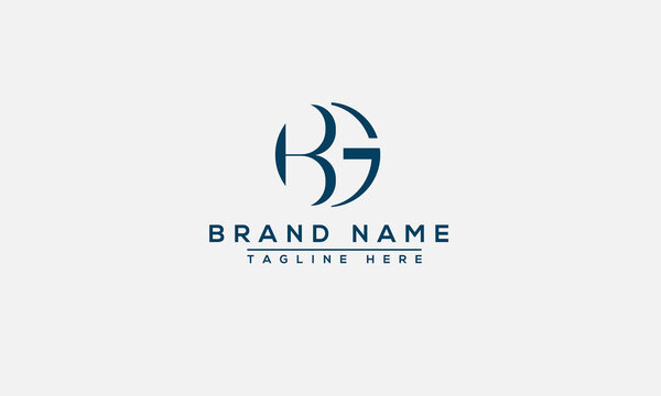 BG Logo Design Template Vector Graphic Branding Element.
