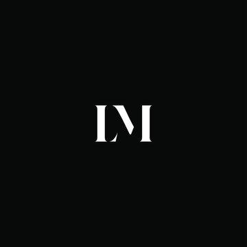 L M letter logo creative design on black color background, lm monogram