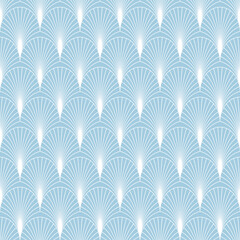 Elegant seamless art deco pattern with fans or palm leaves