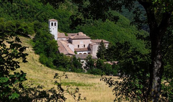 Fonte Avellana is a Roman Catholic hermitage in Serra Sant'Abbondio in the Marche region of Italy.