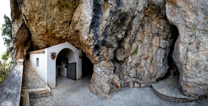 Eremo of Santa Sperandia at the end of a 430 steps path, San Severino Marche, Italy