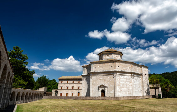 Sanctuary of Macereto, renaissance-style chapel in Marche region, Italy