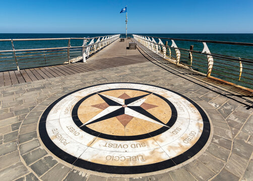 The compass rose, Pesaro, Marche Region, Italy