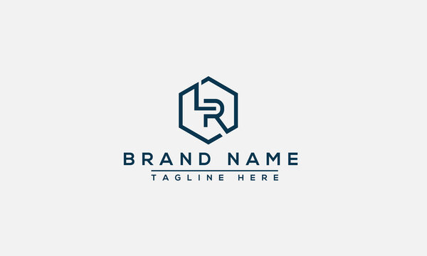 LR Logo Design Template Vector Graphic Branding Element.