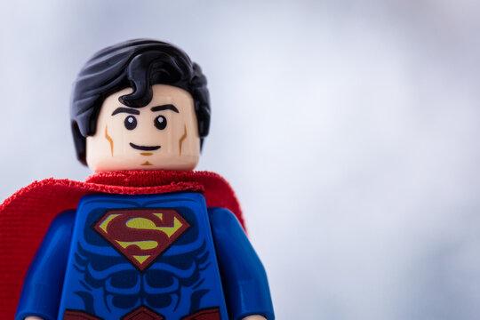 Lippstadt - Deutschland 15.11.2020 Lego Figur Superman