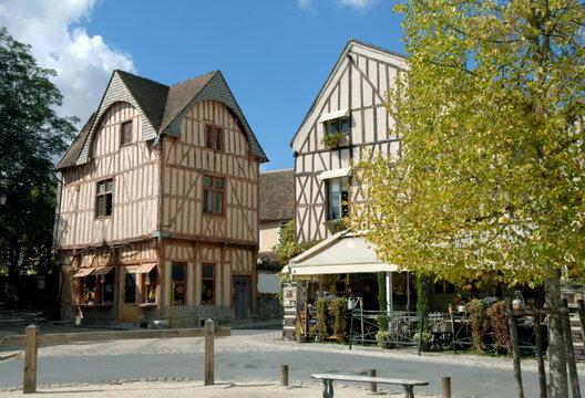 ville de Provins, maisons à colombages de la cité médiévale, département de Seine-et-Marne, France