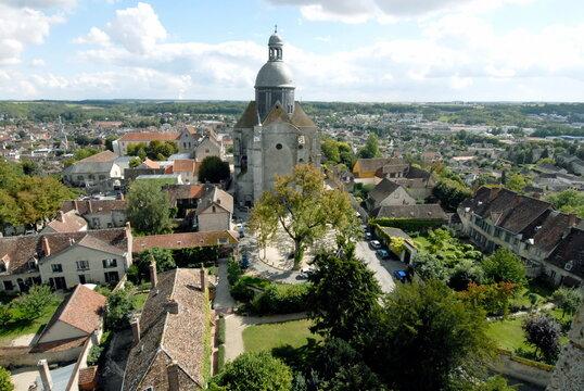 ville de Provins, les toits de la cité médiévale, Patrimoine Mondial de l'Unesco, département de Seine-et-Marne, France