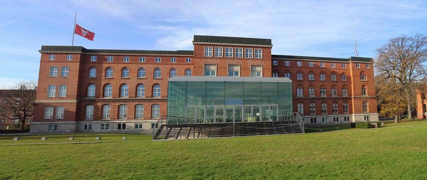Kiel, Germany - 15th November 2020: Panoramic view at the local parliament building in Kiel Germany