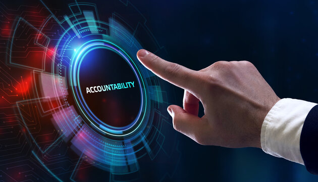 Accountability, productivity and success concept. Business, Technology, Internet and network concept