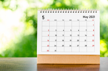 Fototapeta May 2021 Calendar. obraz