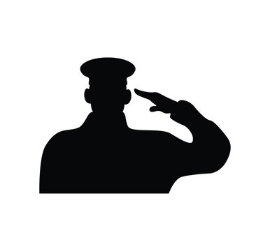 officer military silhouette isolated icon