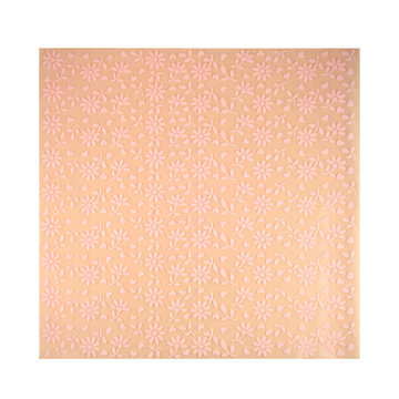Beige silicone baking mat isolated on white background, copy space. Top view, flat lay. Clipping path