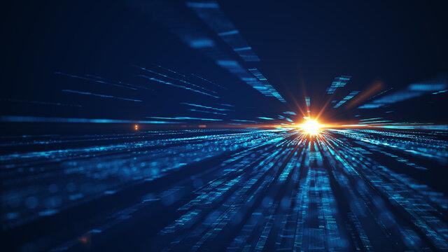 Speed of digital lights background.