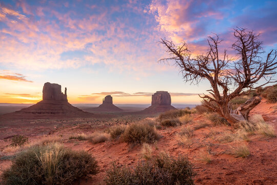 Landscape of Monument Valley in Arizona, USA