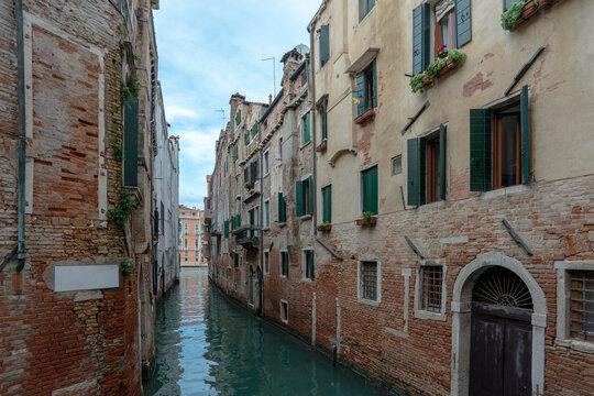 old buildings on water