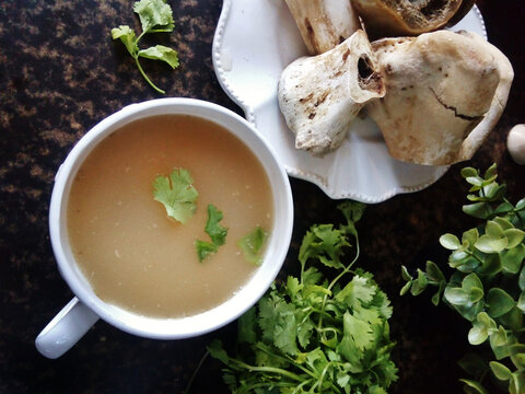 bone broth. Superfood rich in collagen and calcium, good for digestion