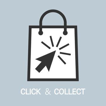 buy online and pick up in store, click and collect concept vector illustration