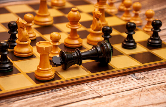 Checkmate to the king. Chess