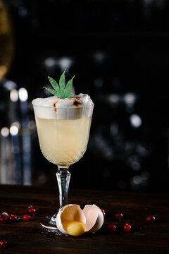 alcohol and drug cocktail eggnog with marijuana