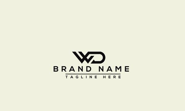 WD Logo Design Template Vector Graphic Branding Element.