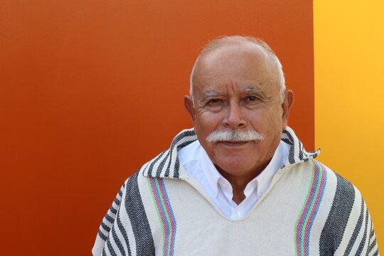 Typical Hispanic Senior man portrait
