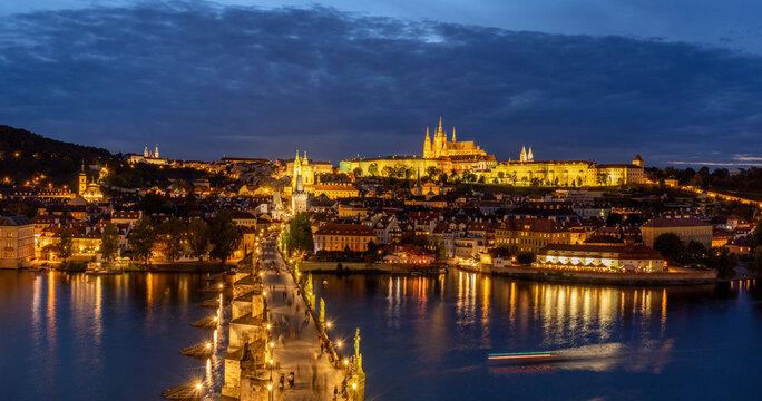 Prague castle from Staroměstská tower