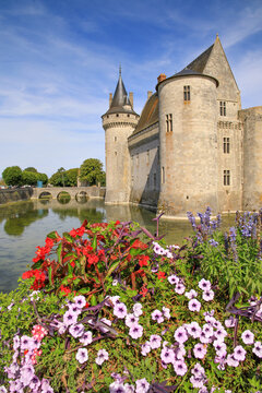 The castle of Sully-sur-Loire, Loire valley, France