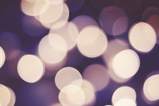 Blurred picture of Christmas lights, abstract background.