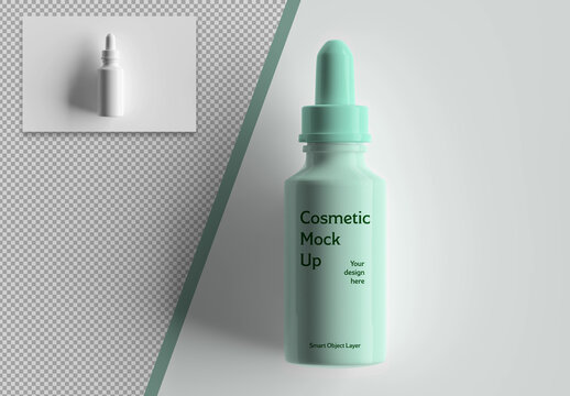 Mockup of a Cosmetic Bottle