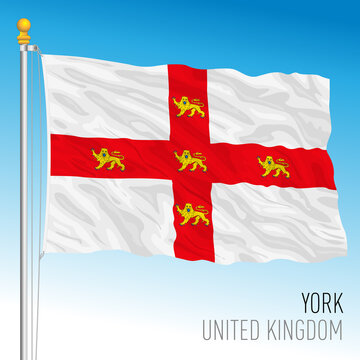 City of York flag, United Kingdom, vector illustration