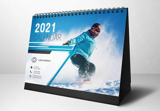 2021 Desk Calendar Layout