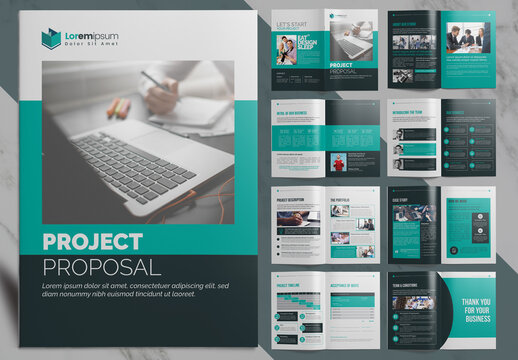 Project Proposal Business Brochure with Clean Layout