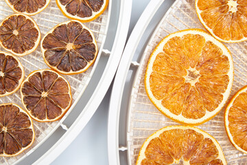 mix of different pieces of dried citrus fruit