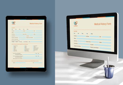 Medical History Interactive Form Layout