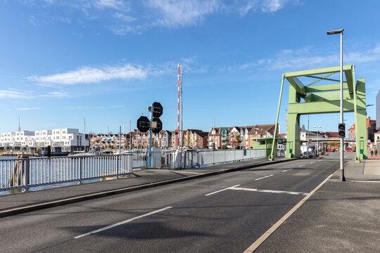bascule bridge in Cuxhaven, Germany