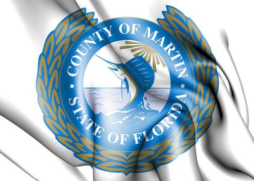 3D Seal of Martin County (Florida), USA. 3D Illustration.