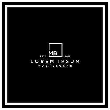 letter MB square logo design vector