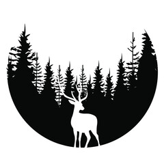 Fototapeta Hunting vector icon set. wildlife illustration sign collection. deer symbol.