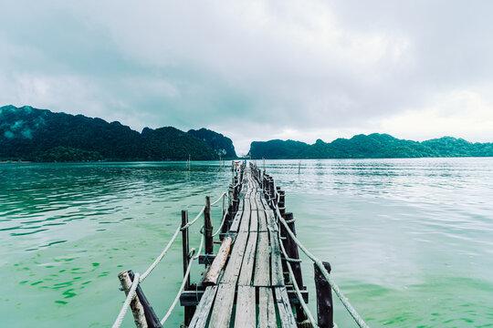Talet Bay in Khanom, Nakhon Sri Thammarat, Thailand