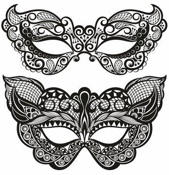 Carnival masks .Beautiful concept design