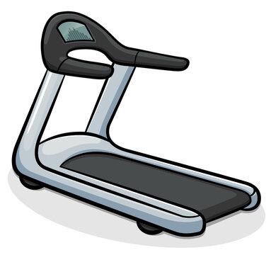 Vector treadmill running machine illustration