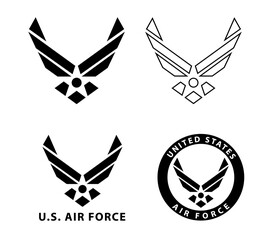Obraz Usa U.S. Air Force Logo Sign Symbol - fototapety do salonu