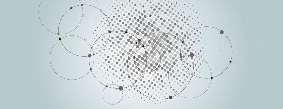Vector distress texture. Monochrome halftone dots. Simple vector illustration
